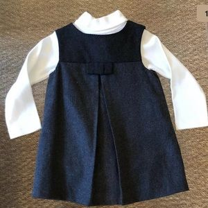 NWT JACADI Turtleneck & Grey Dress Outfit - 12M